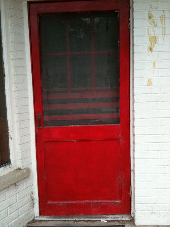 Old Red Screen Door
